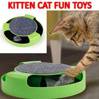 🚚 TPE060 Cute Unique Catch the Mouse Motion Cat Kitten Funny Interactive Toy