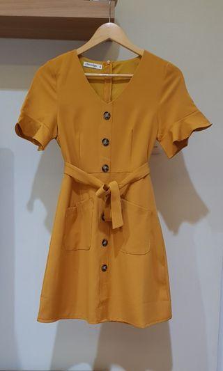 Dress Chocochips Mustard Murah
