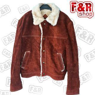 Jaket kulit asli SUEDE chaleger original
