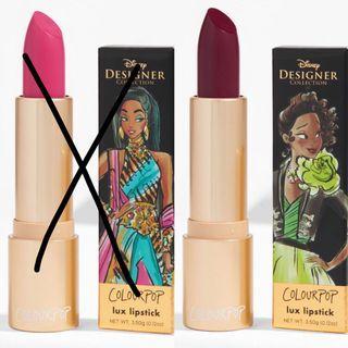 Colourpop x Disney Creme Lux Lipsticks