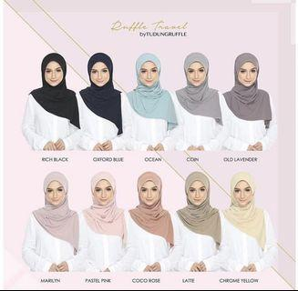 Tudung Ruffle Travel