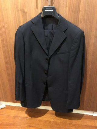 "Emporio Armani Navy Blue Suit (36"" Chest)"