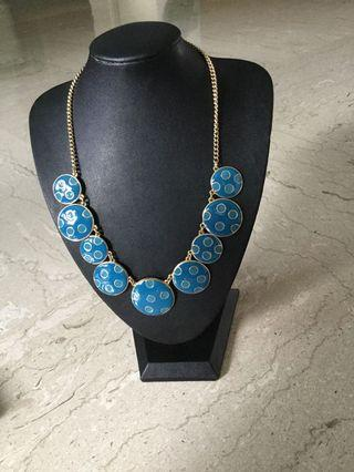 Teal Color Statement Necklace