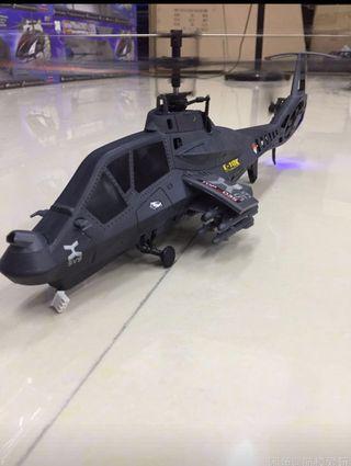 正品4通道 50cm長 遙控像真阿帕奇直升機