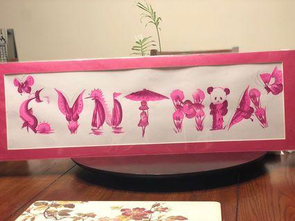 Name sign (Cynthia)
