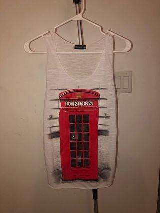 London Telephone Booth Tank Top