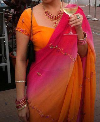 Indian Sari (tailored) size S / 36