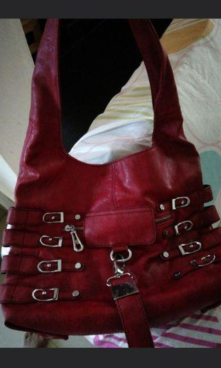 Inspired Jimmy Choo Red leather Bag
