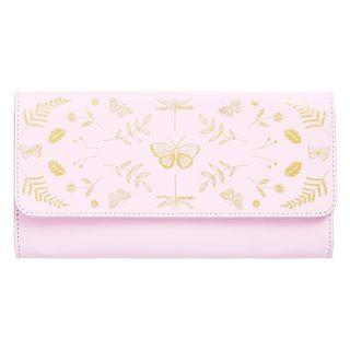 Kikki K slim leather travel wallet - petal pink