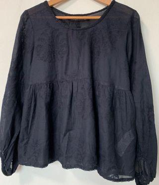 Zara Lace Embroidered Blouse