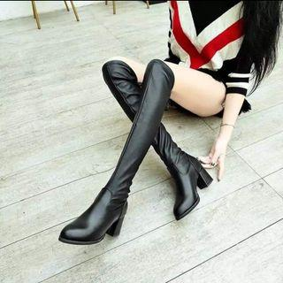 PU knee high boots