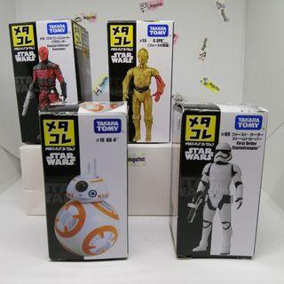 from RM35/ each) Metacolle Star Wars die-cast figures Stormtrooper BB8 C3PO Guavian Enforcer (original from Japan)