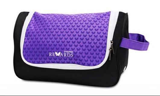 NEW! Purple 2-in-1 Gym Bag / Travel Toiletries Bag - Changi Rewards