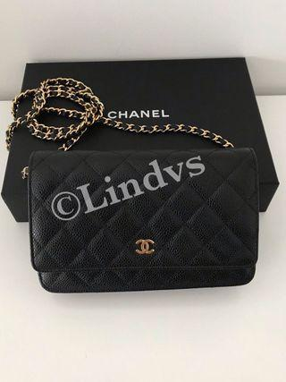 Authentic Chanel Wallet in chain WOC