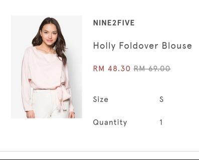 CLEARANCE SALE : Foldover Blouse