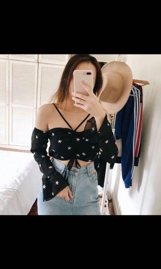 Star off shoulder top
