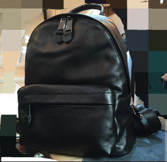 黑色牛皮真皮背包背囊backpack