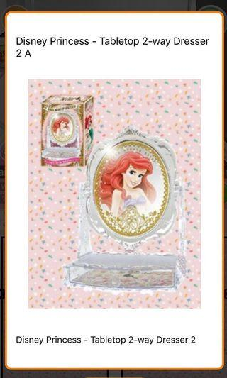 🚚 NEW! Japan Disney Tabletop Vanity Double Mirror with Drawer