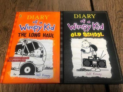Dairy of a Wimpy Kid #hard cover#2 copies