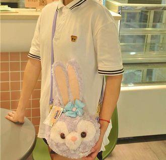 NEW! Disney Stella Lou Furry Soft Pastel Purple Sling Bag