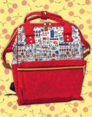 🚚 NEW! Japan Sanrio Hello Kitty Red Big Backpack