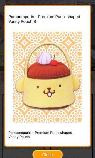 NEW! Japan Sanrio Pom Pom Purity Large Vanity Pouch