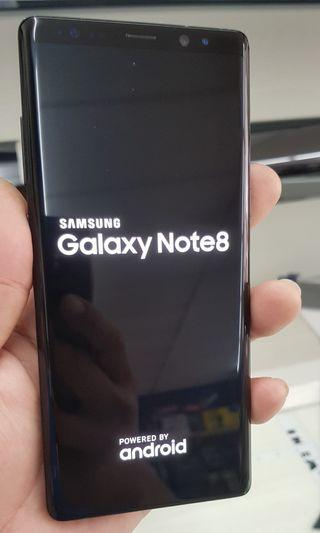 Note 8 black 6/64 gb sell only
