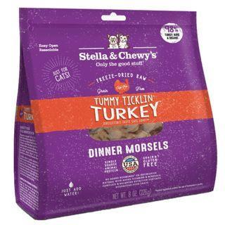 Stella & Chewy's Cat Freeze-Dried Tummy Ticklin' Turkey Dinner Morsels 18oz
