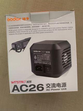 Godox AC-26 AD600 pro AC power Source adapter