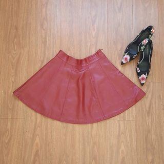 SALE 50% !! Leather Skirt