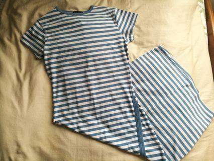 Cotton on blue stripe dress