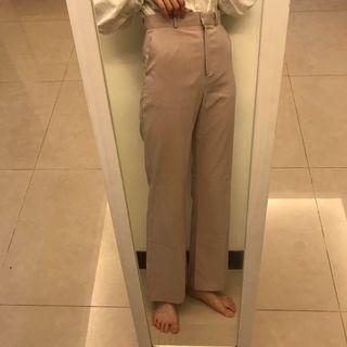 Hong裸粉高腰喇叭落地褲