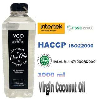 🚚 Coco Olio Virgin Coconut Oil 1L, Cold Pressed, VCO