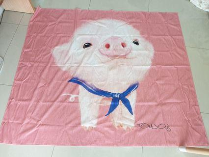 B.New Piglet painting / picture/canvas /throw blanket