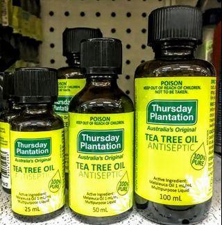 Thursday Plantation Pure Tea Tree Oil \ 100% 純正茶樹油 \ 100mL \ 原產地: 澳洲