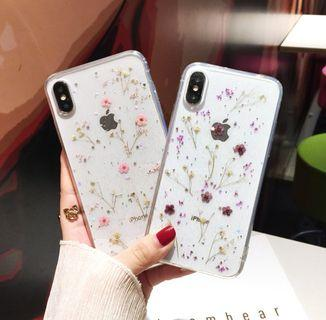 Dried flower glitter case