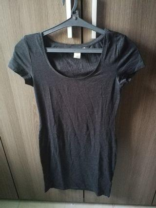 H&M grey bodyfit dress