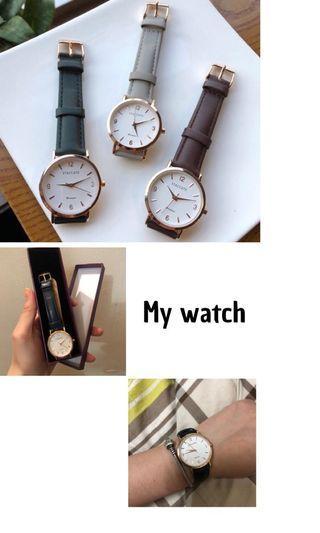 🚚 韓國staccato中型經典手錶