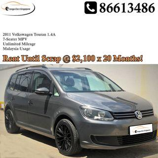 7 Seater Volkswagen Touran 1.4A For Rent!