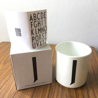 Typography porcelain cup