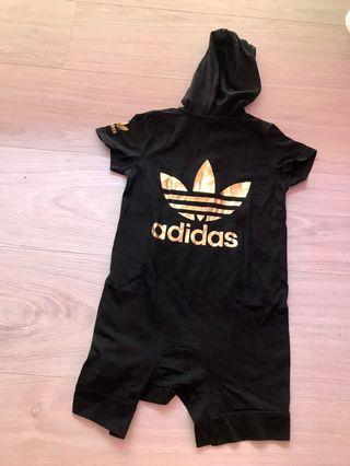 Adidas black hoodie romper