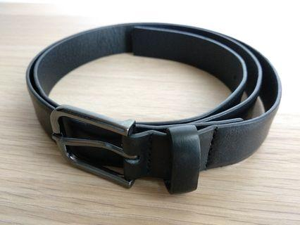 ZARA Slim Belt with Smoked Gun Metal Buckle