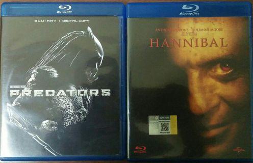 Blu Ray lot Predators & Hannibal