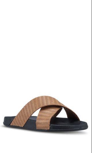 RUBI Brown Slides Sandals