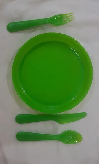 Ikea kids set (green) #RayaHome