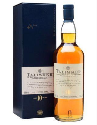 (1公升)舊裝 Talisker 10年(少見了)