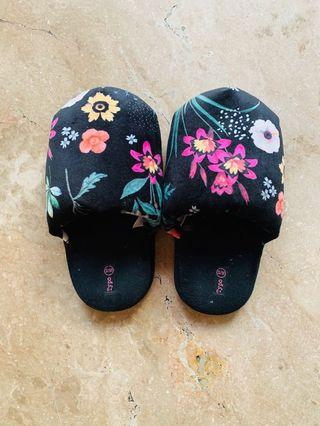 Typo Floral Bedroom Slippers