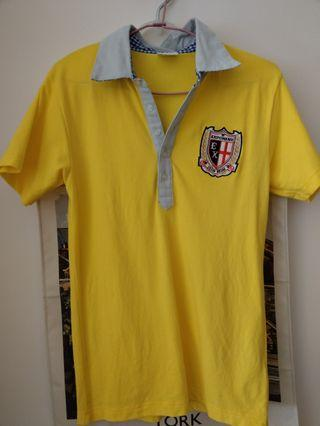 🚚 exponent 英倫風黃襯衫