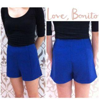 🚚 ✨BN LB LoveBonito Sander Shorts From Love, Bonito/ Cobalt Blue, Size M, UK 10