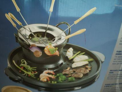 Fondue & grill set, open box